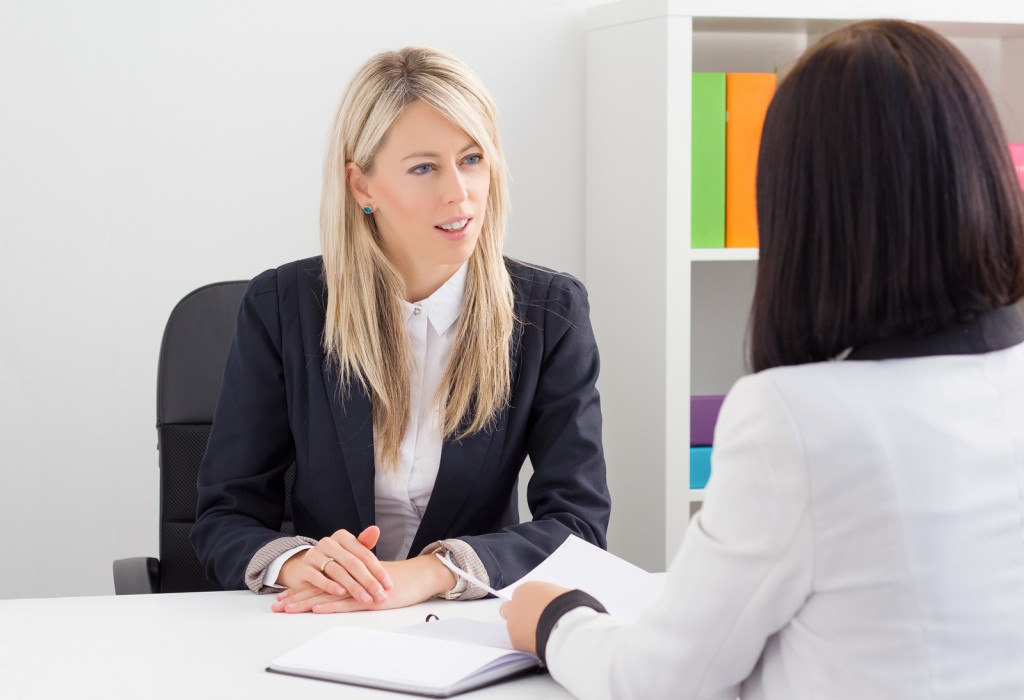 Banker with Client