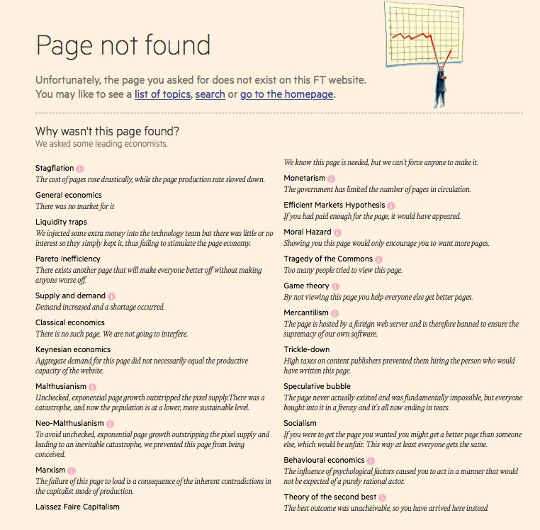 Financial Times 404 Page