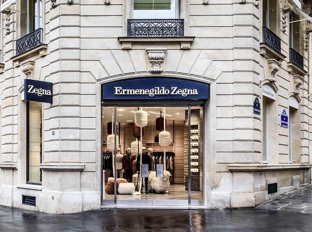 Zegna Store In Paris
